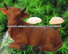 Resina vaca estatuilla decoracion de habitaciones