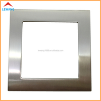 Chrome plating zinc alloy light wall switch plate metal frame for hotel