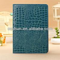 Stand leather cases for apple macbook air covers case with Crocodile