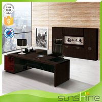 2015 Sunshine Italian Style Furniture Office Desk Table Used Good Life Luxury Modern Wooden Furniture Latest Design From China