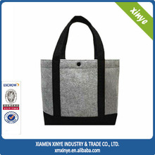 2015 wholesale Ladies felt bag felt tote bag felt shopping bag