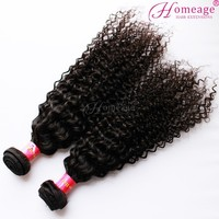 Homeage Natural black essence hair African curly weft hair extensions jerry curl human hair braiding