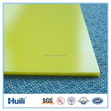 3mm UV protection Polycarbonate Solid Sheet in yellow color for Macdonald Use