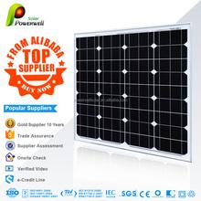 Powerwell Solar High Quality 50W Mono Solar Panel Photovoltaic Sun Panel