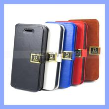 Fashion Leather Case for iPhone 4 4S with Credit Card Holder