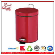Office bin dustbin with colorful pating coatingFoot Pedal Dustbin With factory in BSCI Report