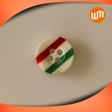 Latest New Design red and green Resin Button decoration