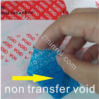 Supply Custom Color transparent Security void tape ,Anti-fake warranty void if broken sticker with any color and shape