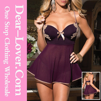 sexy open 2 Pieces Mesh 2015 xxxl babydoll lingerie customer photo gallery