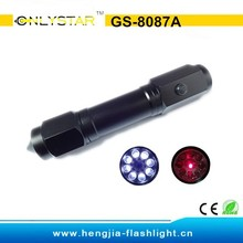 GS-8087A aluminum multifunction laser flashlight with knife and hammer torch light manufacturers