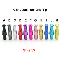 Smooth glossy finished clean ego mouthpieces tip swirl bottle shape thin pipe CE4 aluminum vape drip tip wholesale price