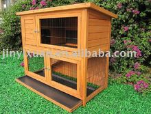 Wooden rabbit hutch with tray