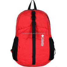 Red fold up backpack foldable backpack