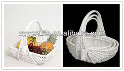 white wicker decorative baskets wedding for gift (factory supplier)