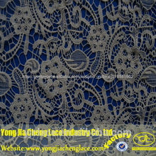 Yjc16490-76 fantasia química novo projeto do bordado tecido de tule