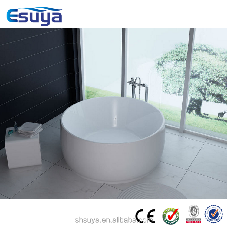 Cheap freestanding used round bathtub made in china for Cheap free standing tubs
