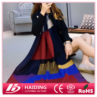Winter Geometric patterns scarves and shawl for girls