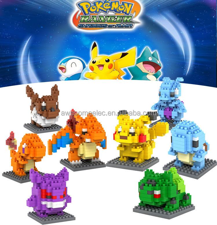Loz Nano Bloques de Juguete, Mini Bloque de Construcción de Ladrillos, Pokemon Bloqueo Juguetes para jugar