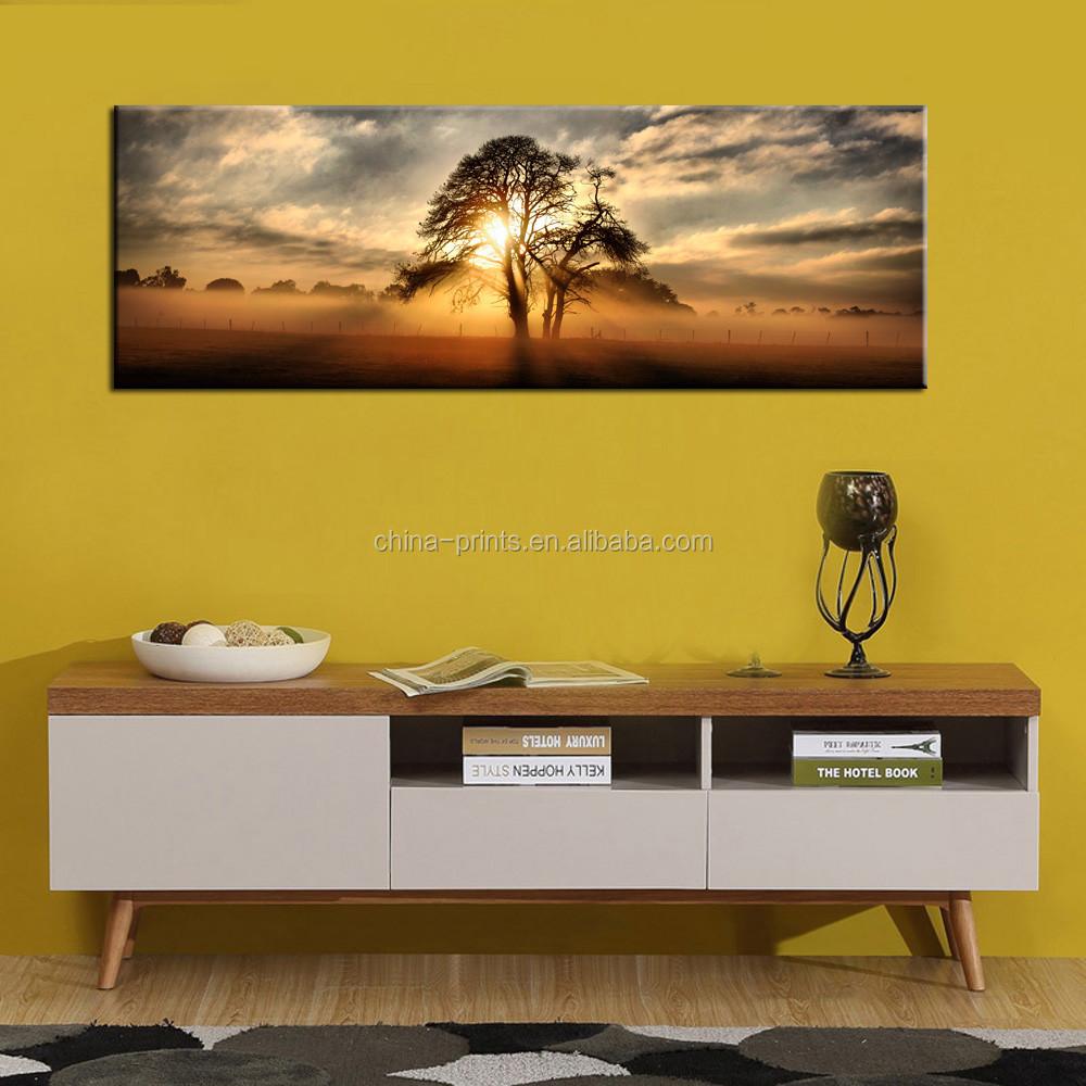 Gallery Wrap Canvas Print Beautiful Sunset Panoramic Canvas Art ...