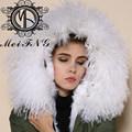 el más reciente mujeres abrigo popular blanco cordero parka canada