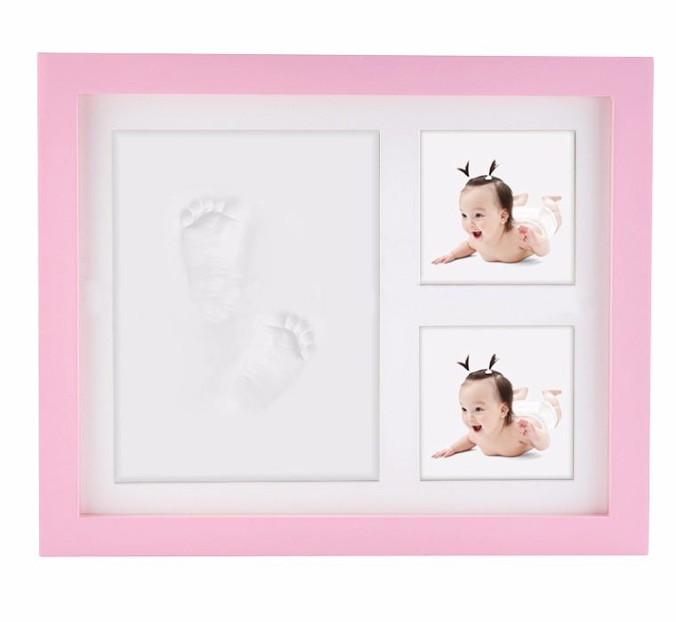 2016 kits handprint & moldura pegada atacado bom presentes de aniversário do bebê