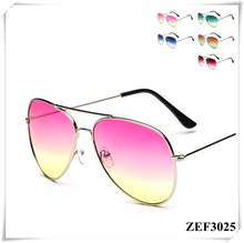 The gradient colorful sunglasses Frog mirror sunglasses UV 400 & CE FDA
