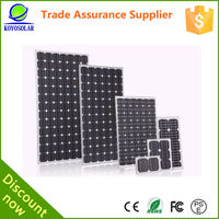A class mono 130w solar panel with high efficiency
