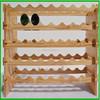 Customized Pine Wood Wine Bottle Rack