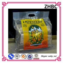 plastic carry bag for firewood, plastic wood pellets bags