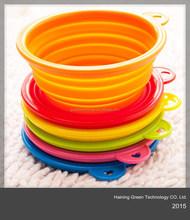 fancy high quality folding silicone dog bowl/pet bowl