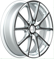 machined face silver car alloy wheel made in China