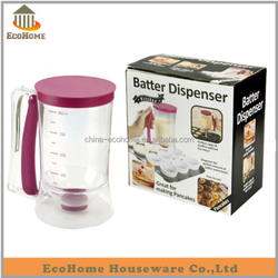 Cupcake Batter Dispenser With Measuring Label for pancake and crepe