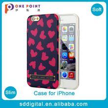 brand pattern matt cover case for iphone wild heart case