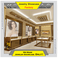Modern jewelry showcase and cabinet high end fashion Jewelry shop design