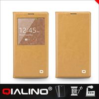 QIALINO Genuine leather mobile phone case for samsung galaxy note 3