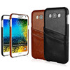 PU leather back cover with card slot for samsung galaxy E7