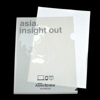 clear pp material custom logo printed sheet protector folder
