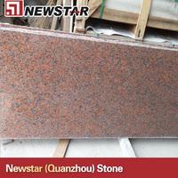 Newstar 2cm polished maple leaf red cheap granite slabs