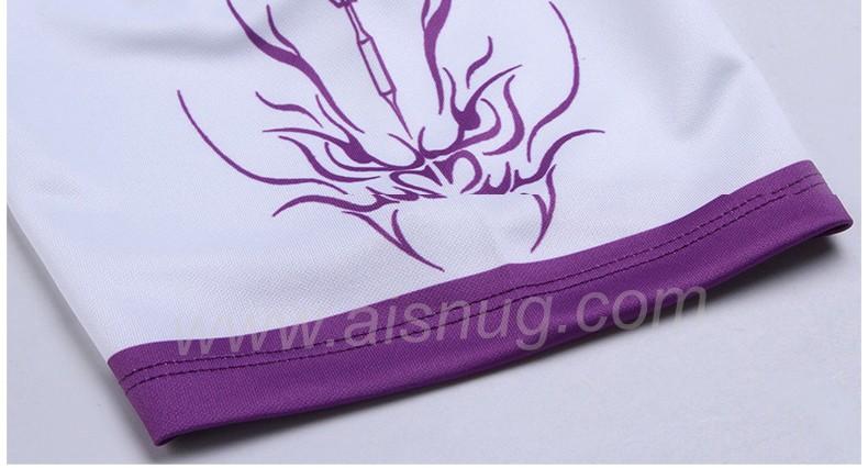 Camisas homens camisa dry fit dardo impressão por sublimação