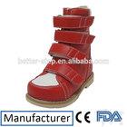 2014 inverno couro bonito ortopédicos sapatos de crianças