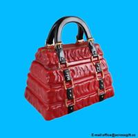 cheap ceramic Red Pleated Handbag Cookie Jar