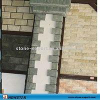 Green man-made slate tiles