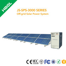 HBGL 3000w Off-grid Solar Power System 140w PV module 250AH battery 3000VA inverter solar home system
