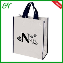 Recycle CMYK printed tote pp laminated non woven material shopping bag