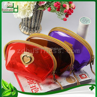 round shape candy color pvc mini cosmetic bag