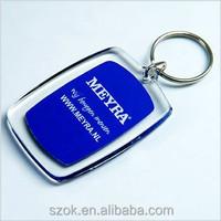 promotional engraved acrylic keychain