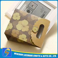 2015 Custom Design Promotional Small Gift Paper Bag With Handle