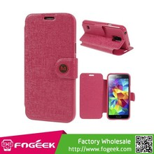 Magnetic Flap Oracle Grain Stand Leather Case for Samsung Galaxy S5 mini G800