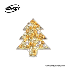 Beautiful Christmas Tree Shaped No Sew Snap Button Charms With Jewelry Rhinestone Clasps For Girls