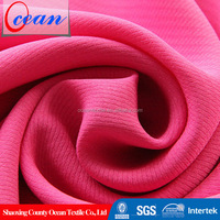 Ocean textile 100%polyester color dyed dobby jacquard style woven fabric for garment